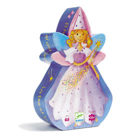 Djeco 36 pcs. Silhouette Puzzle, The Fairy and the Unicorn