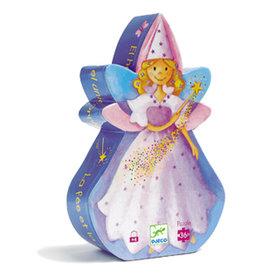 Djeco Silhouette Puzzle, The Fairy and the Unicorn