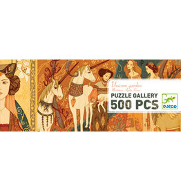 Djeco 500 pcs. Gallery Puzzle, Unicorn Garden