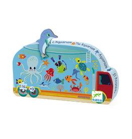 Djeco 16 pcs. Silhouette Puzzle, The Aquarium