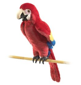 Folkmanis Scarlet Macaw Hand Puppet