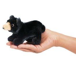Folkmanis Mini Finger Puppet, Black Bear