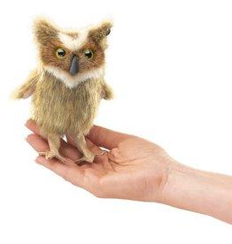 Folkmanis Mini Finger Puppet, Great Horned Owl
