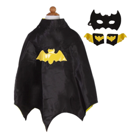 Great Pretenders Bat Cape Set with Mask and Wristbands