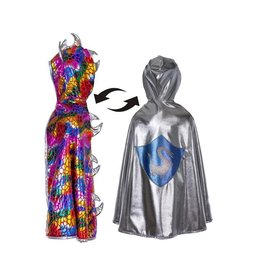 Great Pretenders Reversible Knight Dragon Cape, Size 5-7