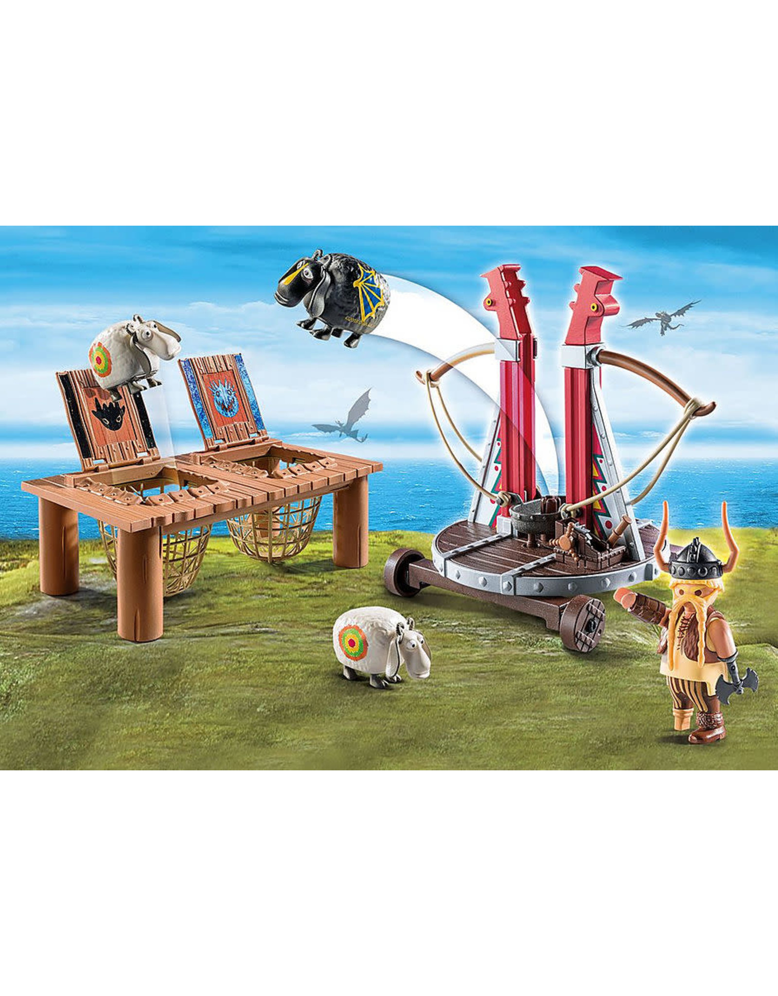 Playmobil Gobber the Belch with Sheep Sling