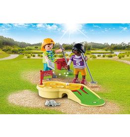 Playmobil Children Minigolfing