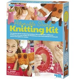 4M Adorable Scarf Knitting Set