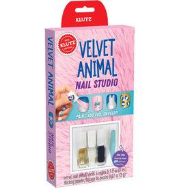 Klutz Klutz Mini Kits: Nail Studio Velvet Animal