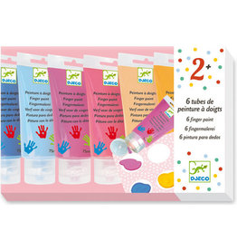 Djeco 6 Finger Paint Tubes, Sweet