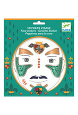 Djeco Face Stickers, Knight
