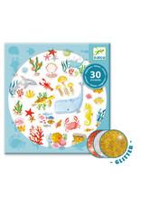 Djeco Glitter Stickers, Aqua Dream
