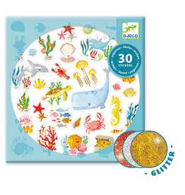 Djeco Glitter Stickers, Aqua Dream