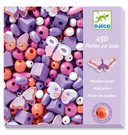 Djeco Wooden Beads, Butterflies