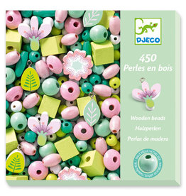 Djeco Wooden Beads, Leaves and Flowers