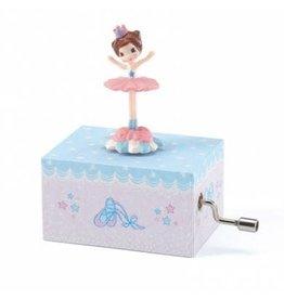 Djeco Hand-Crank Music Box, Ballerina On Stage