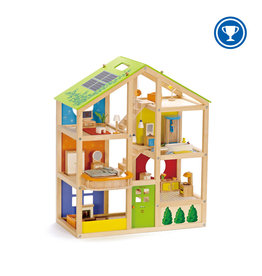 Hape All Season Doll House (Furnished)