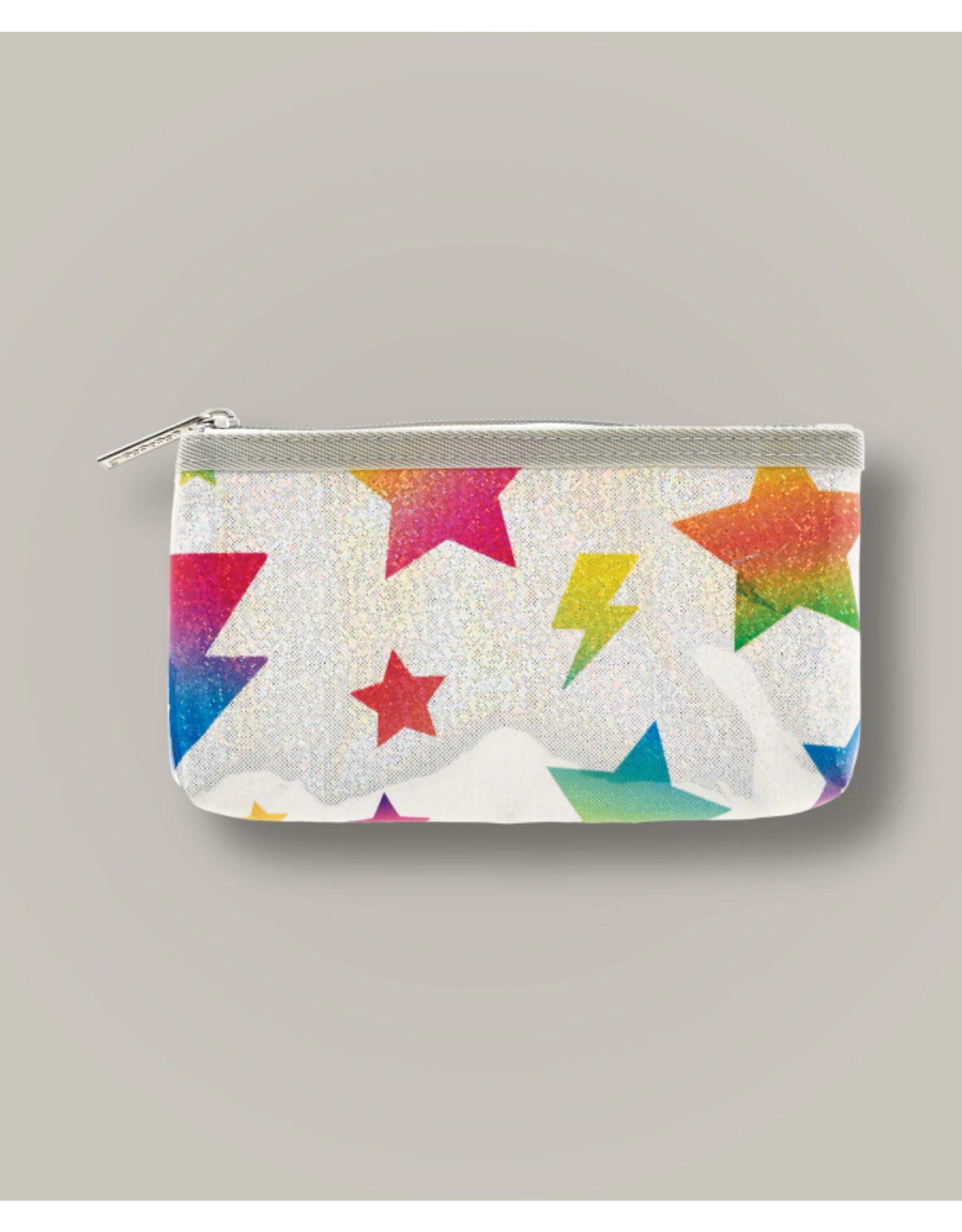 Iscream Pencil Case, Stars & Lightning Glitter