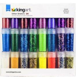 KingArt Kingart 24pc. Brilliant Glitter Shaker Set