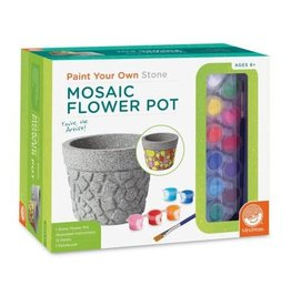 MindWare Paint Your Own Mosaic Flower Pot