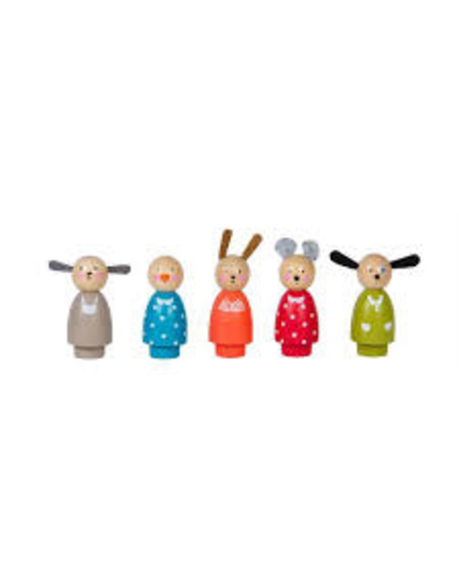 Moulin Roty Grande Famille, Wood Characters, Set of 5
