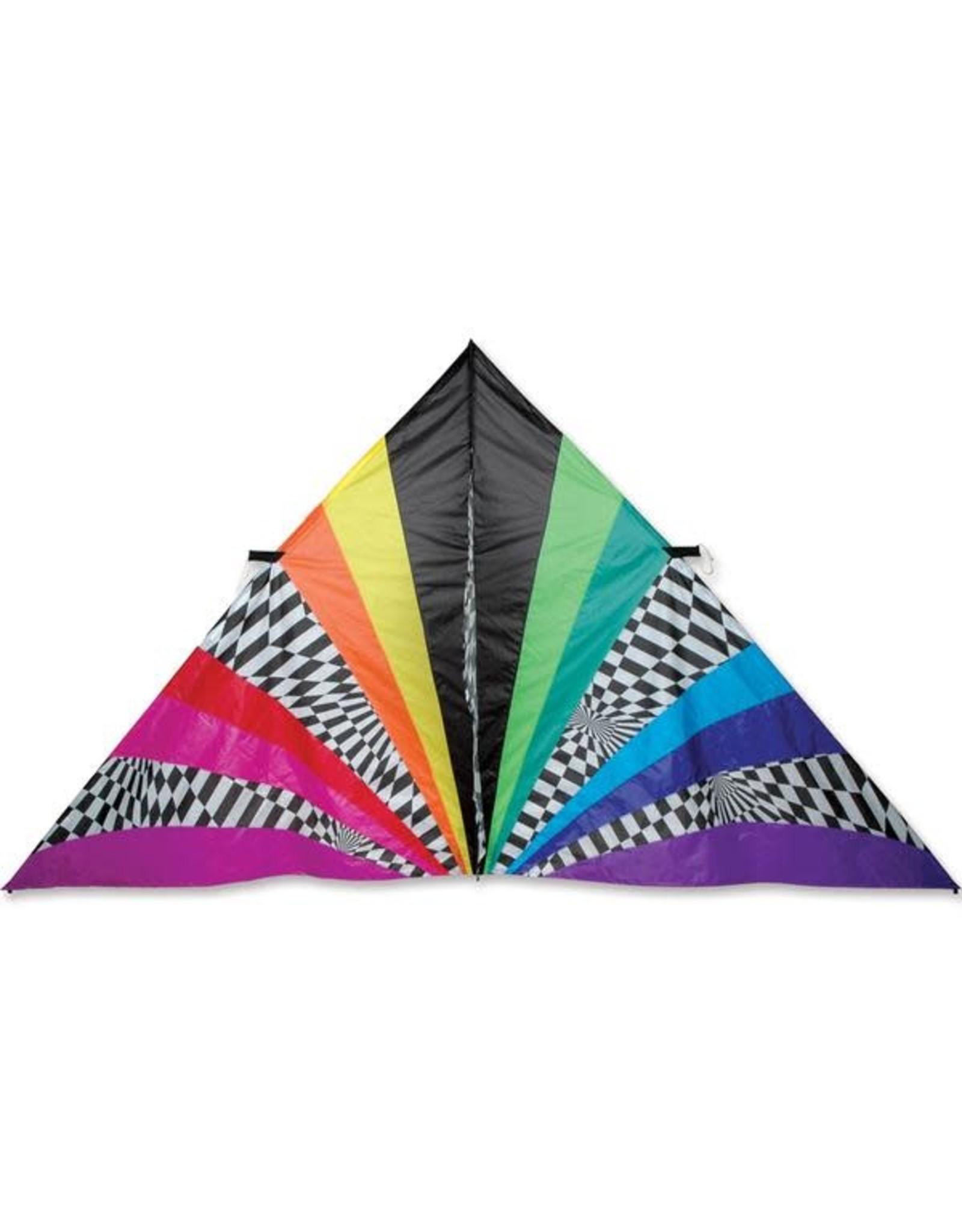 Premier Kites 11 Ft. Delta Kite, Rainbow Op-Art