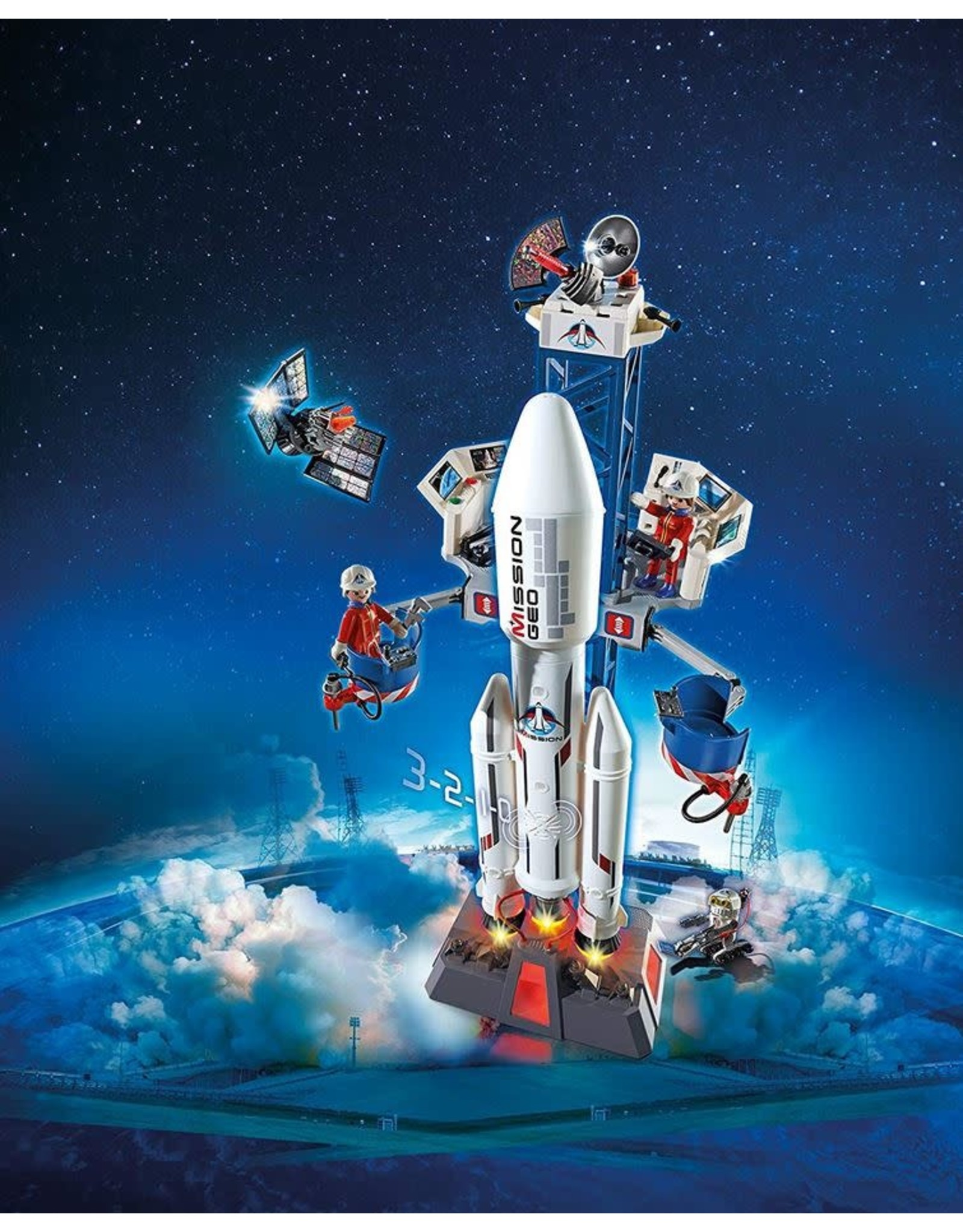 Playmobil Rocket with Launch Site