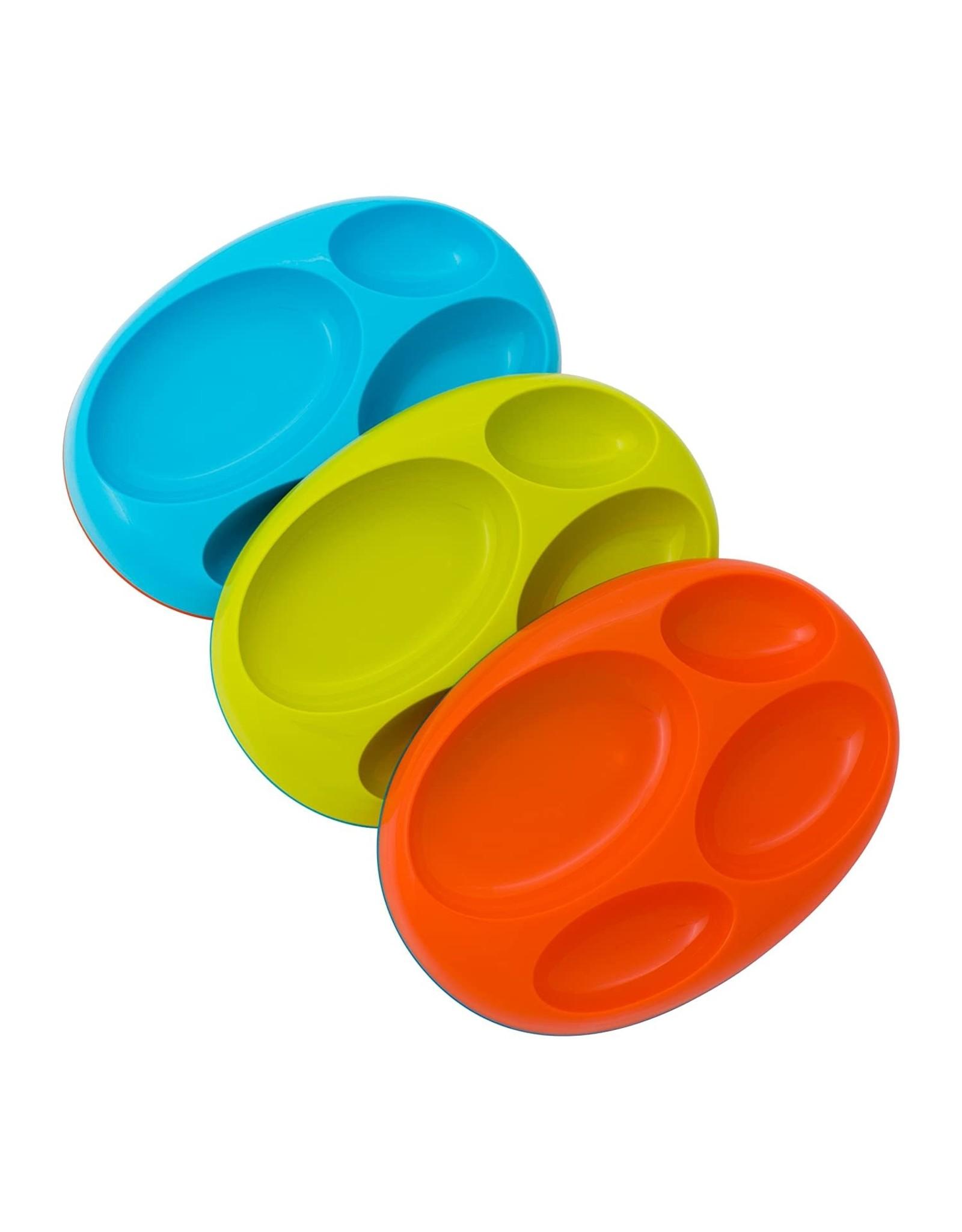 Boon Platter, Orange Large Divided Plate, 3pk