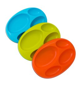 Boon Platter Orange Large Divided Plate, 3pk