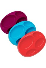 Boon Platter, Purple Large Divided Plate, 3pk