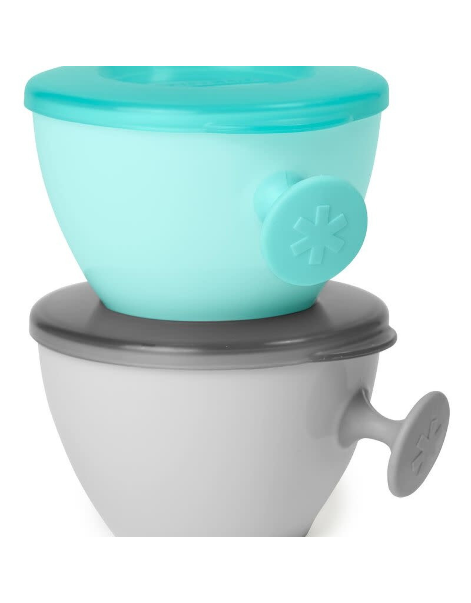 Skip Hop Easy Grab Two Bowl Set, Grey/Soft Teal