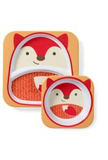 Skip Hop Zoo Plate and Bowl Set, Fox