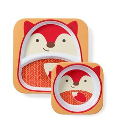 Skip Hop Zoo Plate and Bowl Set, Fox
