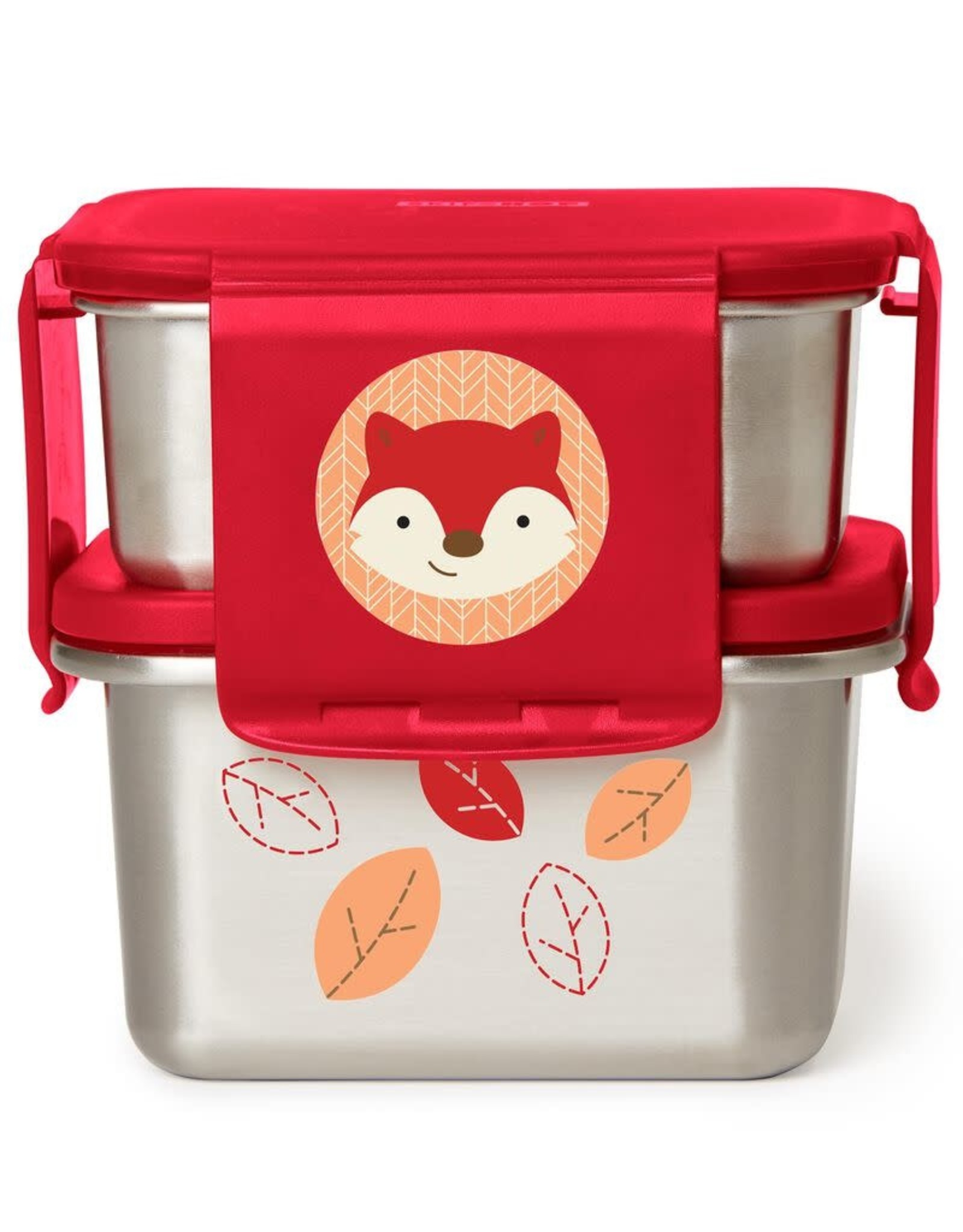 Skip Hop Zoo Stainless Steel Lunch Kit, Fox