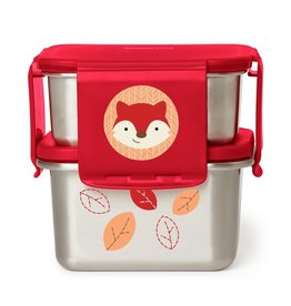 Skip Hop Zoo Stainless Steel Lunch Kit, Fox
