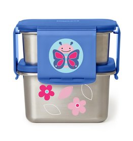 Skip Hop Zoo Stainless Steel Lunch Kit, Butterfly