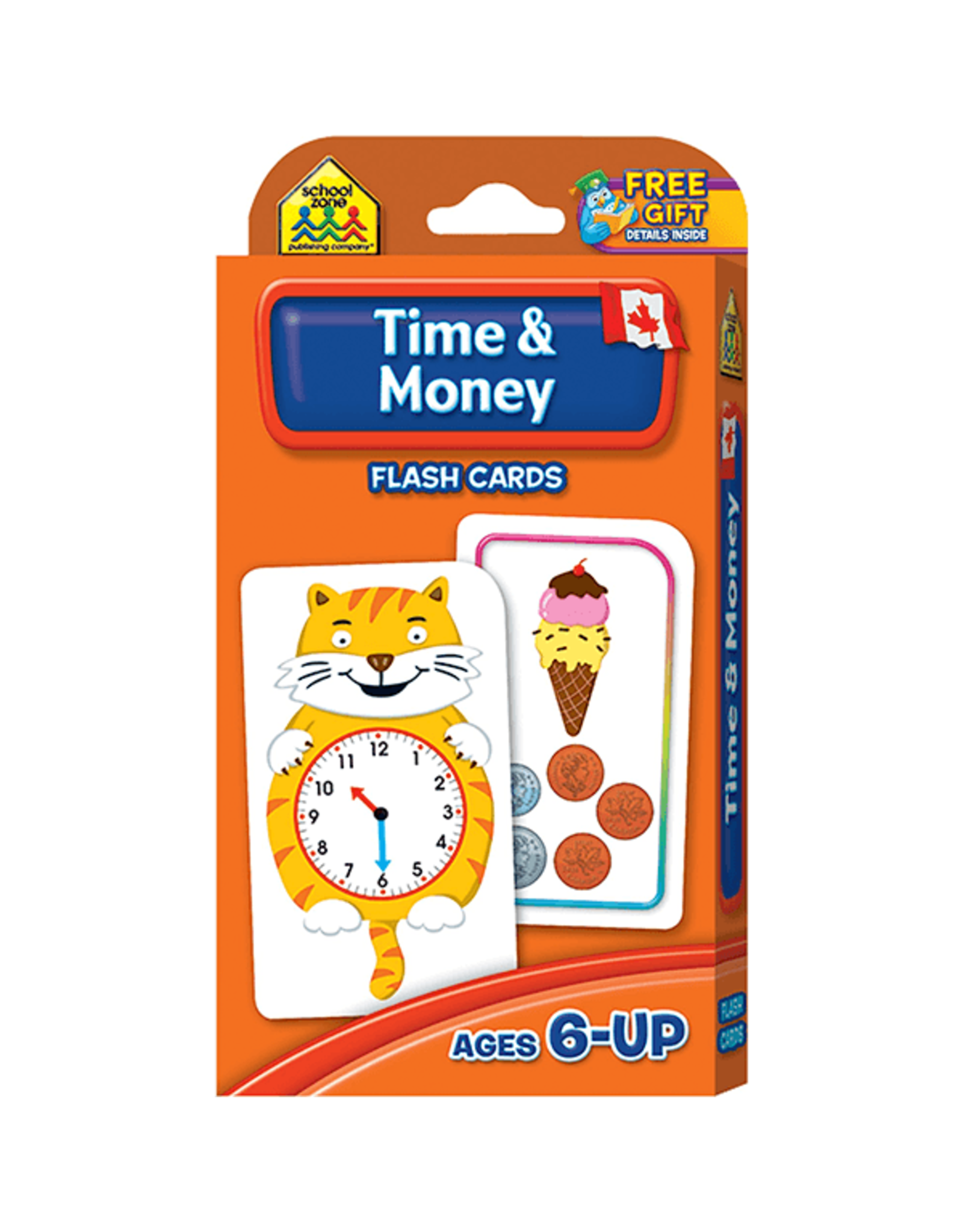 School Zone Canadian Time & Money Flash Cards