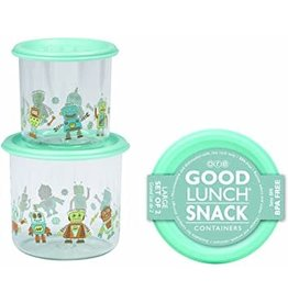 Sugarbooger Good Lunch Snack Containers Large, Retro Robot