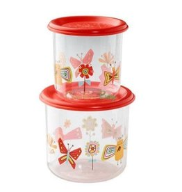 Sugarbooger Good Lunch Snack Containers Large, Birds & Butterflies