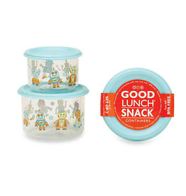 Sugarbooger Good Lunch Snack Containers Small, Retro Robot