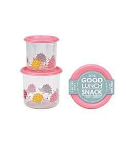 Sugarbooger Good Lunch Snack Containers Large, Hedgehog