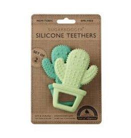 Sugarbooger Silicone Teether Set, Happy Cactus