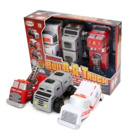 Popular Playthings Magnetic Build-A-Truck, Fire & Rescue