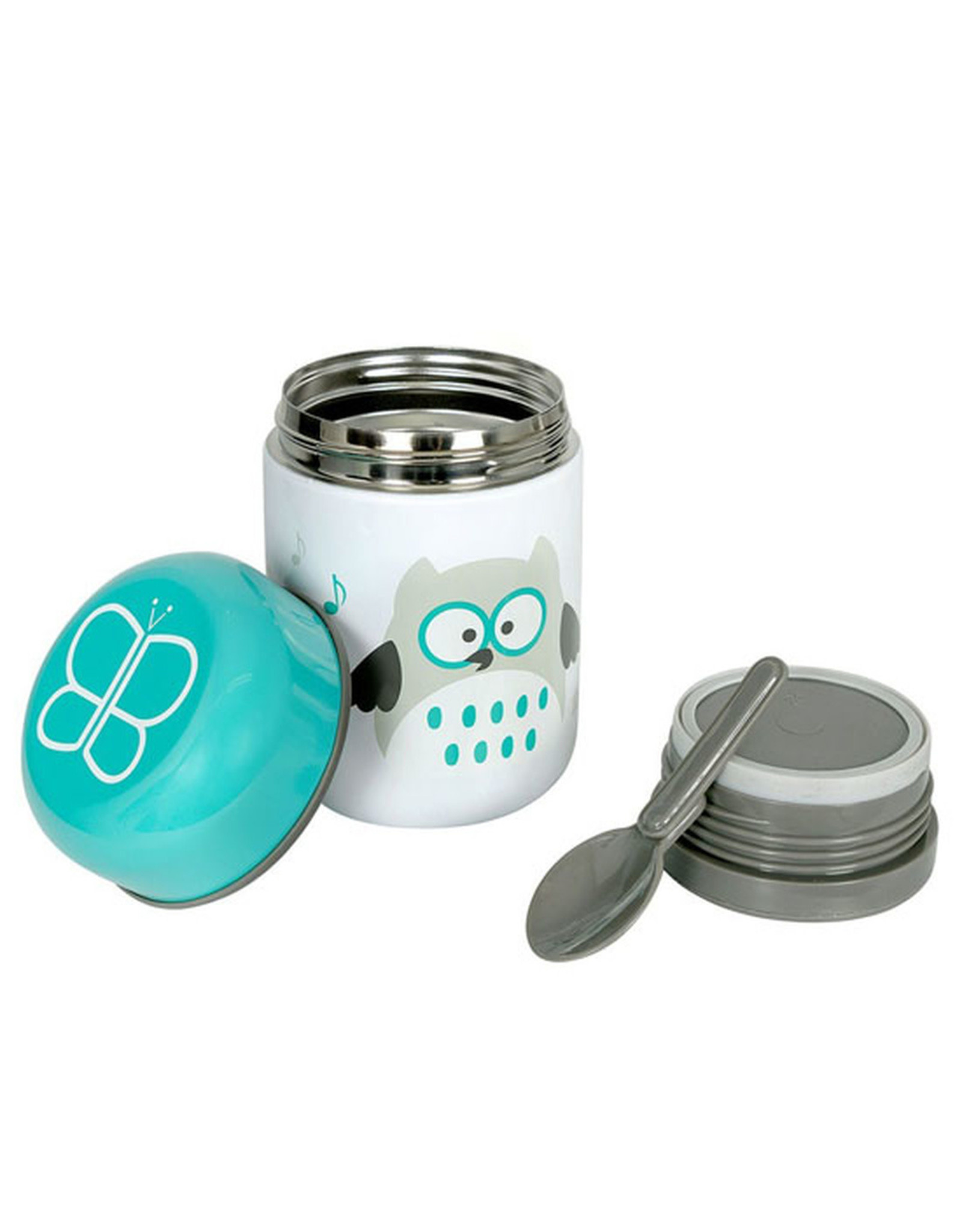bbluv bbluv  Food, Thermal Food Container with Spoon, Aqua