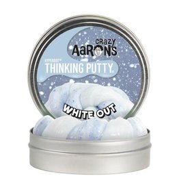 Crazy Aaron's Putty World Thinking Putty, Hyperdot White Out