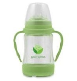Green Sprouts Glass Sip N Straw Cup