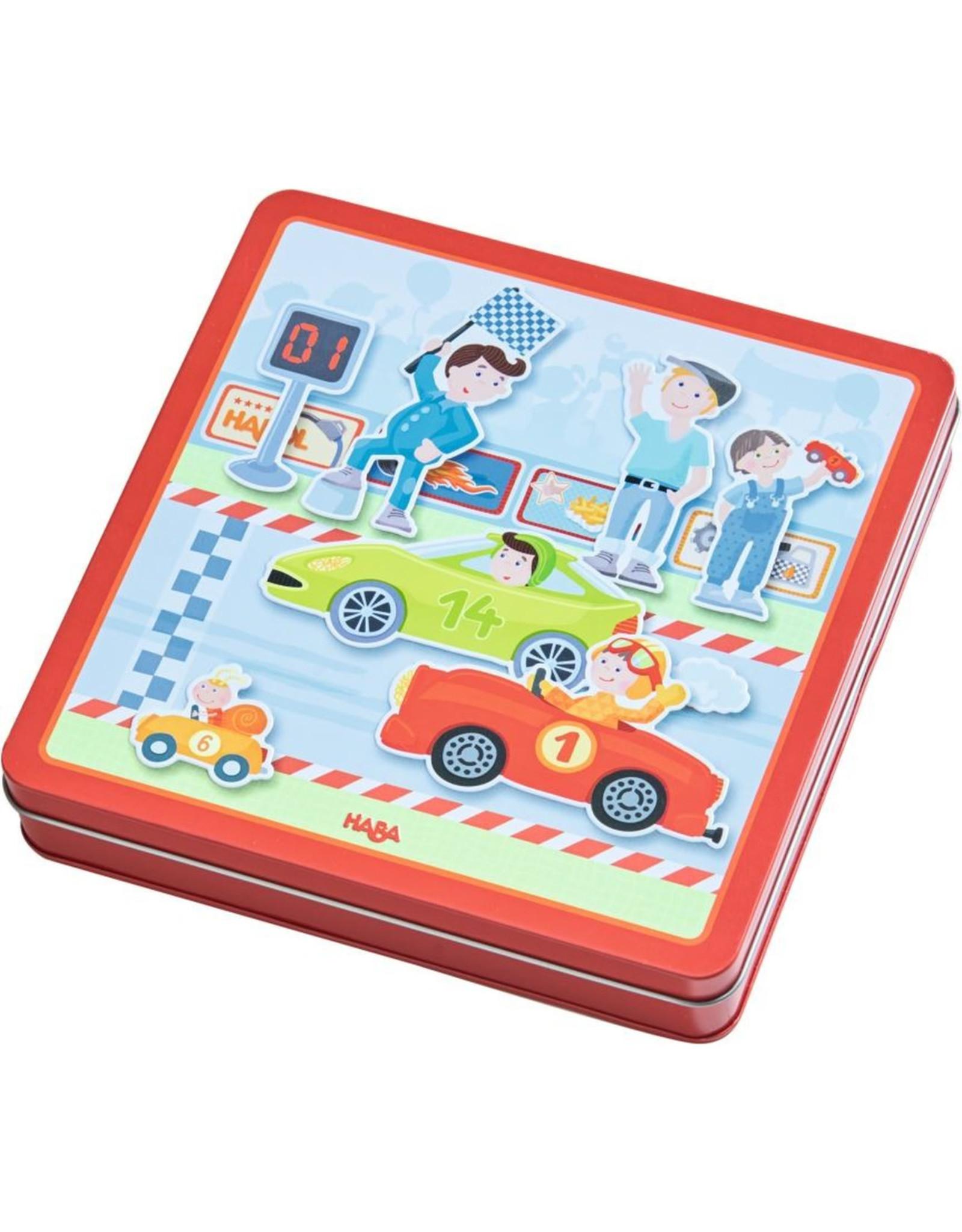 Haba Magnetic Game Box, Zippy Cars