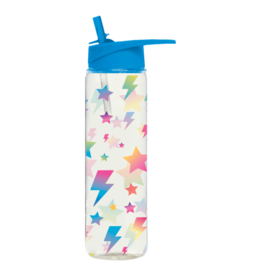Iscream Water Bottle, Stars and Lightning Glitter
