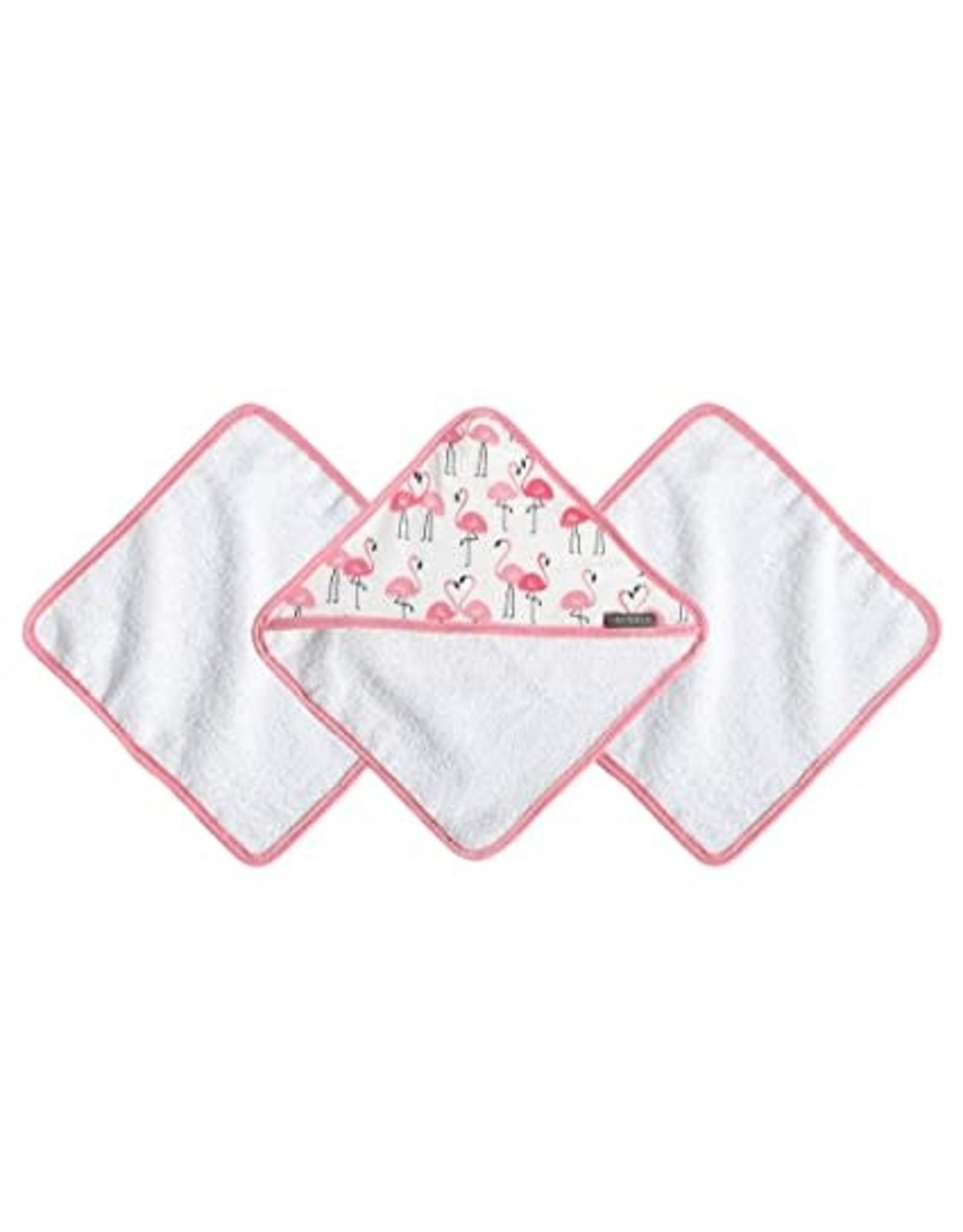 JJ Cole Washcloth Set, Flamingo