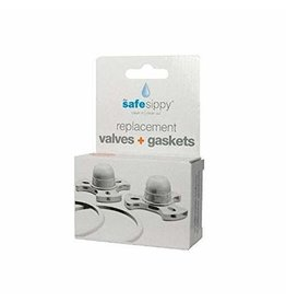 Kid Basix Gaskets Kid Basix Safe Sippy 2 Valve & Gasket Replacement Pack